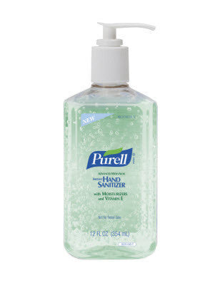 GOJO 12 Ounce Pump Bottle Clear PURELL Advanced Instant Hand Sanitizer With Aloe
