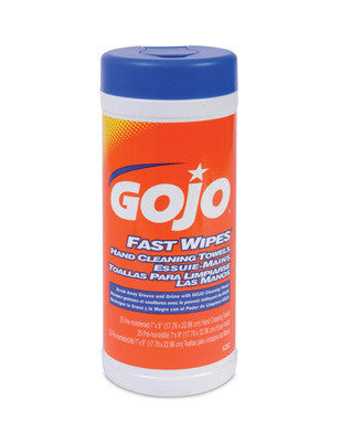 GOJO 25 Count Canister FAST WIPES Hand Cleaning Towels
