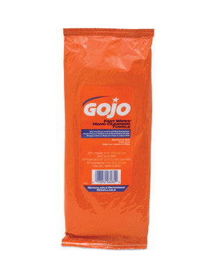 GOJO 60 Count Toolbox Pak FAST WIPES Hand Cleaning Towels