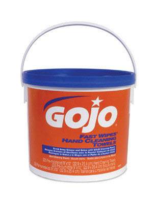 GOJO 225 Count Bucket FAST WIPES Hand Cleaning Towels