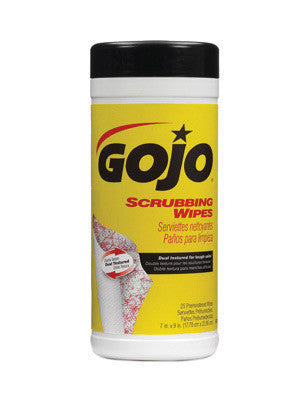 GOJO 25 Count Canister Scrubbing Wipes