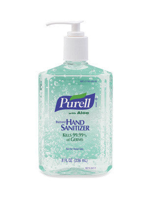 GOJO 8 Ounce Pump Bottle PURELL Instant Hand Sanitizer With Aloe (12 Per Case)