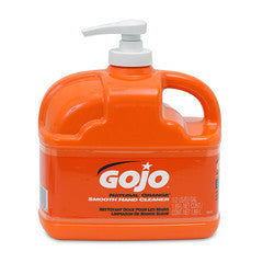 GOJO 1/2 Gallon Bottle Natural* Orange Orange Citrus Scented Lotion Formula Hand Cleaner With Pump Dispenser