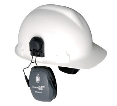 Howard Leight Leightning L1H Light Gray Metal Helmet Mount Noise Blocking Earmuffs