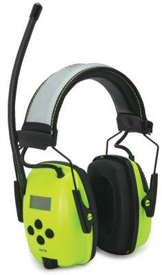 Howard Leight Leightning Hi-Visibility L2FHV Bright Green Metal Folding Noise Blocking Earmuffs