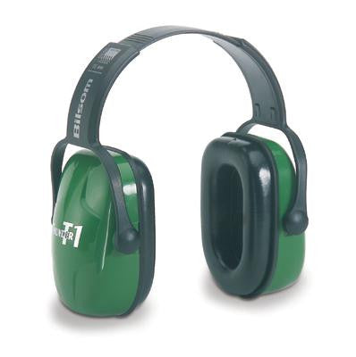 Howard Leight Thunder T1 Light Green Plastic Headband Noise Blocking Earmuffs