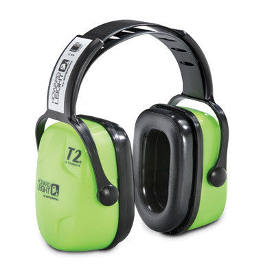 Howard Leight Leightning Hi-Visibility L3HV Bright Green Metal Headband Noise Blocking Earmuffs