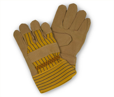 BRW Pigskin Leather Palm Glove With Safety Cuff