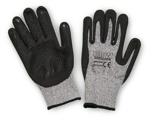 13 Gauge UHMW-PE Shell Glove with Breathable Foam Nitrile Dot Coating