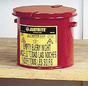 Justrite 2 Gallon Red Oily Waste Countertop Can