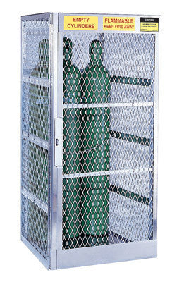 "Justrite 65"" X 30"" X 32"" Vertical 5-10 Cylinder Storage Locker For Flammables"