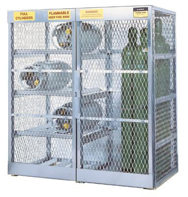 "Justrite 65"" X 60"" X 32"" Combo Cylinder Storage Locker For Flammables (Capacity 8 Horizontal And 10 Vertical Cylinders)"