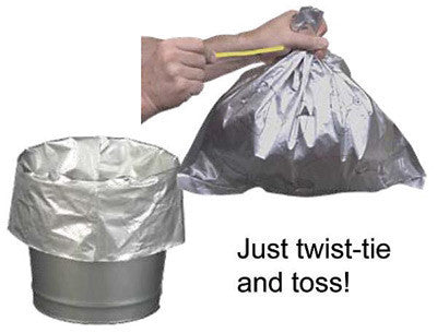 Justrite Disposable Bucket Liner For Smoking Receptacles With Twist Ties (10 Per Pack)
