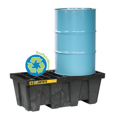 Justrite 2 Drum EcoPolyBlend Spill Control Pallet