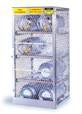 "Justrite 65"" X 60"" X 32"" 16 Cylinder Horizontal Storage Locker For Flammables"
