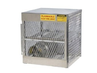 "Justrite 49 1/2"" X 30"" X 32"" 6 Cylinder Horizontal Storage Locker For Flammables"