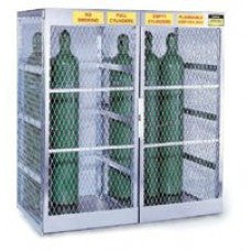 "Justrite 65"" X 60"" X 32"" Vertical 10-20 Cylinder Storage Locker For Flammables"
