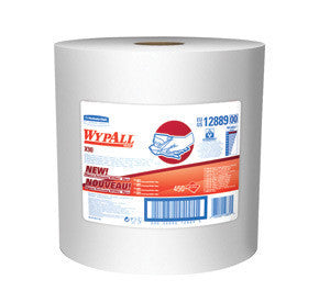 "Kimberly-Clark Professional* 11.1"" X 13.4"" White WypAll* X90 Heavy Duty Cloth Wipers (450 Sheets Per Roll)"