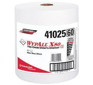 "Kimberly-Clark 12 1/2"" X 13.4"" White WYPALL X80 SHOPPRO Jumbo Roll Shop Towels (475 Per Roll)"