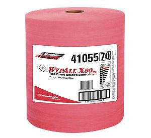 "Kimberly-Clark 12 1/2"" X 13.4"" Red WYPALL X80 SHOPPRO Jumbo Roll Shop Towels (475 Per Roll)"