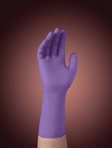 "Kimberly-Clark Professional* Small Purple 12"" Nitrile-Xtra* Nitrile Ambidextrous Powder-Free Disposable Gloves With Textured Finger Tip Finish And Beaded Cuffs (50 Each Per Box)"