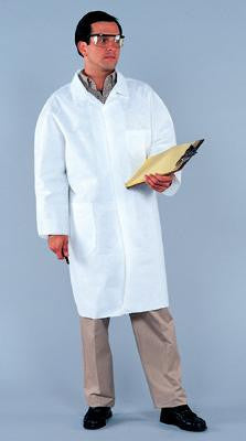 Kimberly-Clark Professional* Large White KleenGuard* A20 MICROFORCE Disposable Labcoat With Snap Front Closure (25 Per Case)