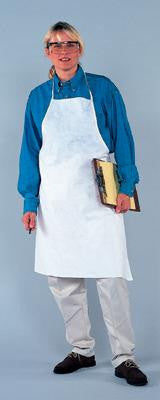 "Kimberly-Clark Professional* 28"" X 40"" White KleenGuard A20 Lightweight MICROFORCE* Disposable Breathable Particle Protection Apron Without Pockets"