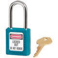 "Master Lock Teal #410 1 3/4"" High Body Safety Lockout Padlock With 1 1/2"" Shackle - Keyed Differently"