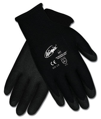 Memphis Small Nija HPT 15 Gauge Hydropellant Dark Gray PVC, Foam And Sponge Coated Work Gloves With Black Nylon Liner