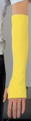 "Memphis 18"" Yellow Regular Weight Kevlar Cut Resistant Sleeve With Thumb Slot"