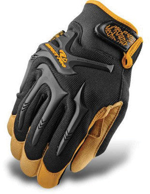 Mechanix Wear Size 11 Black CG Impact Pro Full Finger Synthetic Leather And Rubber Anti-Vibration Gloves With Elastic Cuff, Reinforced Fingertips And Knuckle Protection
