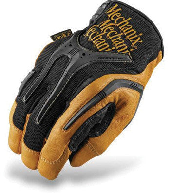 Mechanix Wear Large Black And Brown CG Heavy Duty Full Finger Leather And Rubber Mechanics Gloves With Low Profile Cuff And Multi-Zone Padded Palm