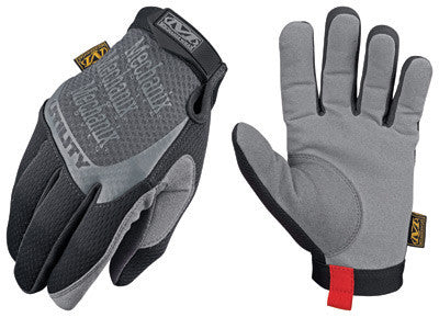 Mechanix Wear Large Black Utility Full Finger Synthetic Leather And Spandex Mechanics Gloves With Hook and Loop Cuff And Reinforced Clarino Dura-Fit Synthetic Leather Thumb And Index Fingertips