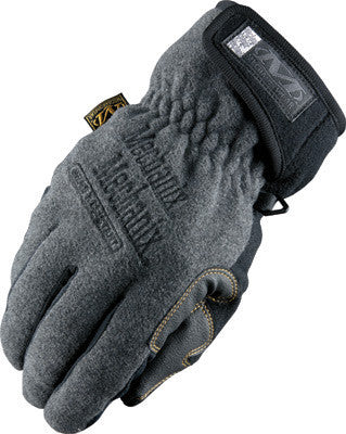 Mechanix Wear Medium Gray Fleece Lined Cold Weather Gloves With Double Reinforced Thumb, Hook And Loop Wrist Closure, Wind-Resistant Barrier And Rubberized Palm