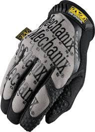 Mechanix Wear Size 9 Black And Gray The Original Grip Full Finger Synthetic Leather And Spandex Extra Grip Mechanics Gloves With Hook and Loop Cuff, Reinforced Thumb And TRP Dots