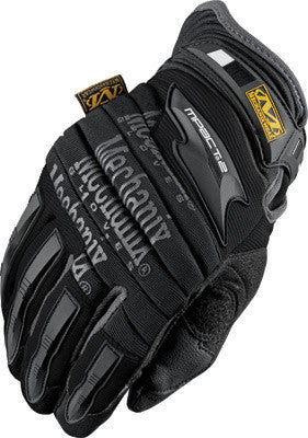 Mechanix Wear Medium Black M-Pact 2 Full Finger Synthetic Leather And Rubber Anti-Vibration Gloves With Neoprene Cuff, EVA Foam Padded Impact Zones, And Rubberized Panels On Thumb, Fingertips And Palm