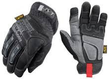 Mechanix Wear Medium Black And Gray Impact Pro Full Finger Synthetic Leather And Rubber Anti-Vibration Gloves With Velcro Cuff, Clarino Dura-Fit Leather Palm, And TPR Molded Rib Panels