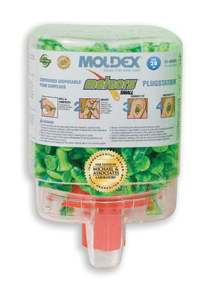 Moldex PlugStation Earplug Dispenser With 250 Pair Single Use Meteors Small Foam Earplugs
