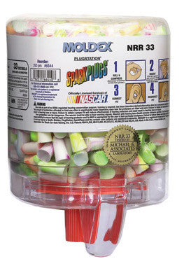 Moldex PlugStation Earplug Dispenser With 250 Pair Single Use SparkPlug Foam Earplugs