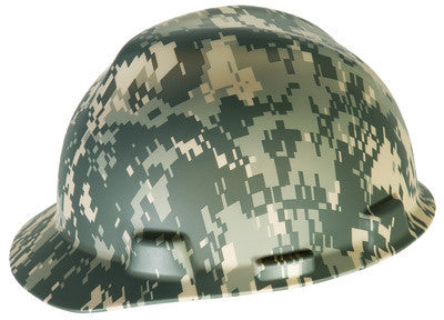 MSA Camouflage V-Gard Freedom Series Class E Type I Hard Cap With Fas-Trac Suspension