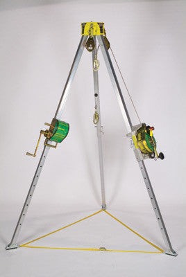 MSA 50' Workman Tripod Confined Space Entry Kit (Includes Lynx Rescuer, Hoist And Carrying Bag)