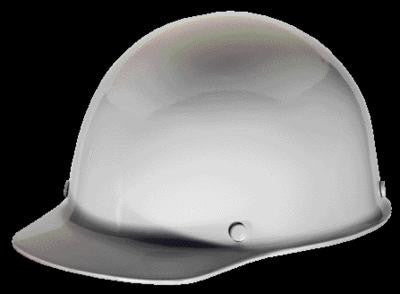 MSA White Skullgard Class G Type I Phenolic Hard Cap With Staz-On Suspension