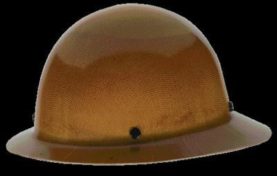 MSA Natural Tan Skullgard Class G Type I Phenolic Hard Hat With Full Brim And Staz-On Suspension