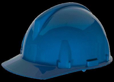 MSA Blue TopGard Class E Type I Polycarbonate Slotted Hard Cap With 1-Touch Suspension