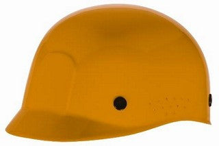 MSA Yellow Polyethylene Bump Cap With Low Profile Crown And Perforated Sides