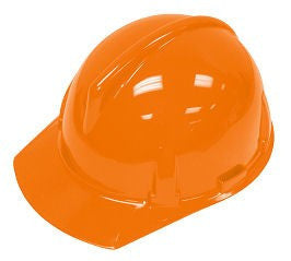 MSA Orange TopGard Class E Type I Polycarbonate Slotted Hard Cap With Fas-Trac Suspension