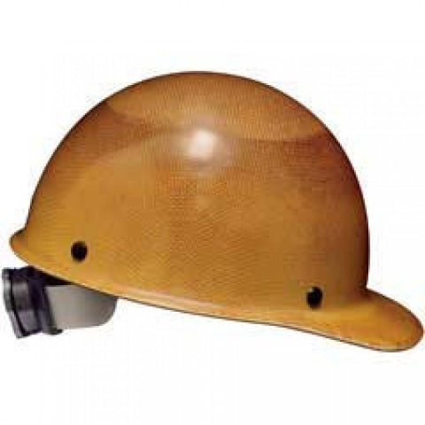 MSA Natural Tan Skullgard Class G Type I Phenolic Hard Cap With Fas-Trac Suspension