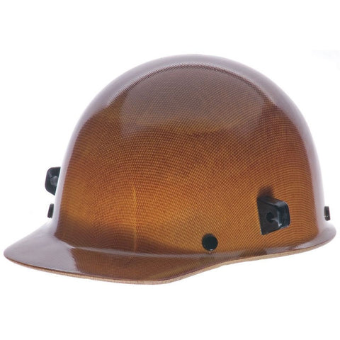 MSA Natural Tan Skullgard Class G Type I Phenolic Hard Cap With Fas-Trac Suspension And Welder's Lugs