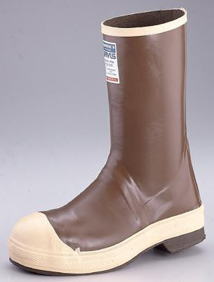 "Servus by Honeywell Size 8 Neoprene III Brown 12"" Neoprene And Latex Boots With Chevron Outsole And Steel Toe"