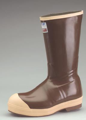 "Servus by Honeywell Size 10 Neoprene III Brown 12"" Neoprene And Latex Boots With Neo-Grip Outsole And Steel Toe"